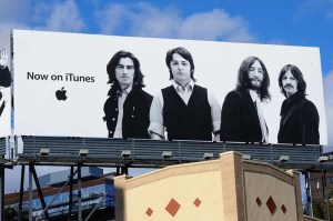 Beatles iTunes billboard advertisement at the Apple store in the Meatpacking District.