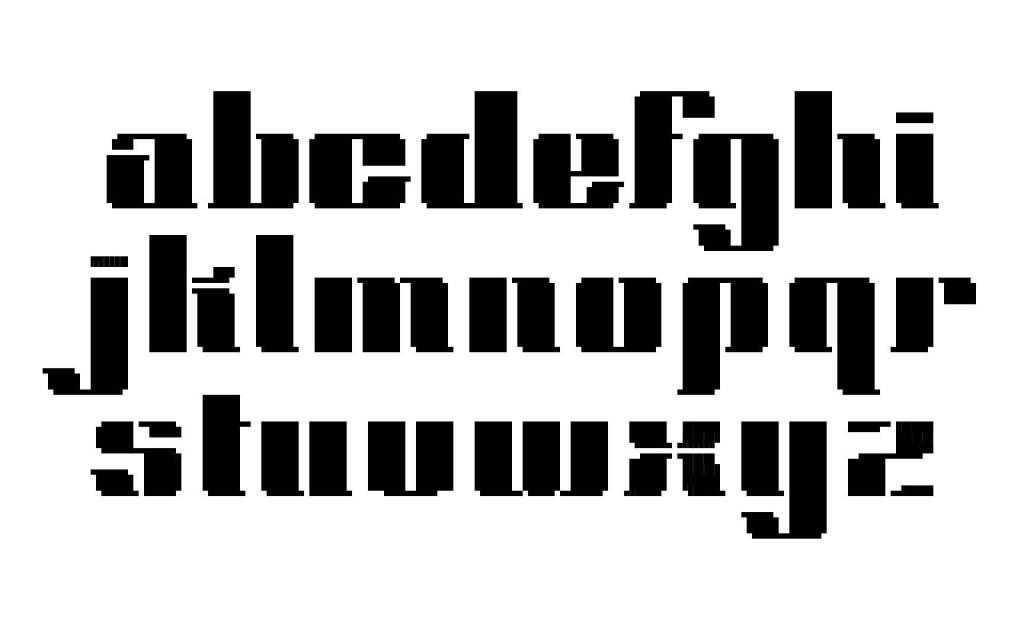 Park_Bitmap Typeface